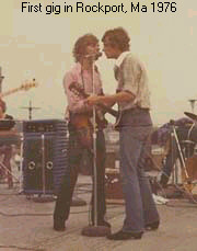 First gig in Rocport Mass 1976